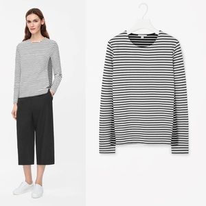 COS contrast stripe top, heavy jersey, S